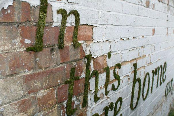 Breng levende graffiti aan op de muren met deze doe-het-zelf mos graffiti techniek