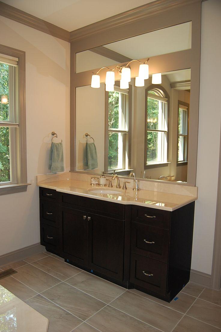 Silver Oak Plan Walnut Stain Cabinets With Crema Marfil Countertops Bath 13 Arh Master