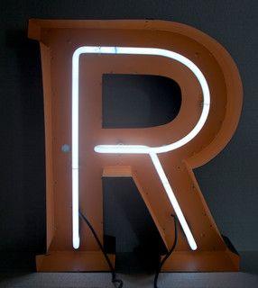 large neon vintage aluminum letters