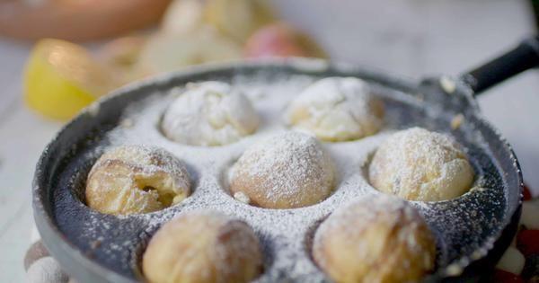 Danska äppelmunkar med citronmascarpone