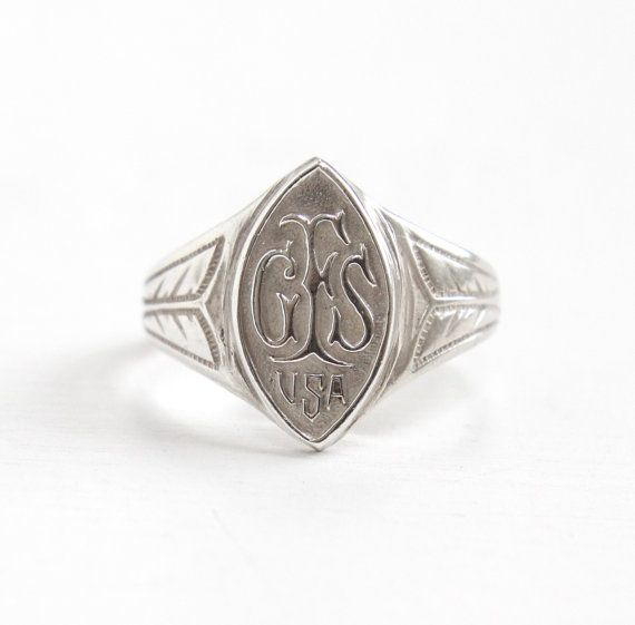 Vintage GFS Girls' Friendly Society USA Sterling Silver Ring - Size 5 1/2 Philanthropic Organization Membership Ring Jewelry by Maejean Vintage on Etsy, $48.00