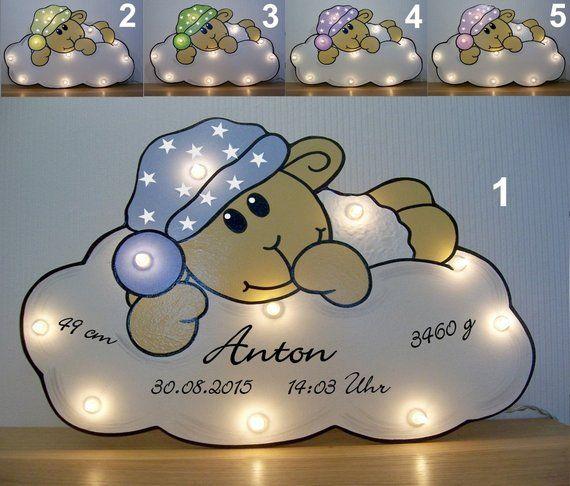 Schlummerlampe Schafchen Kostenlose Beschriftung Lampe Personalisiert Geschenk Mit Namen Nachtlicht Geburtsgeschenk Baby Geburt Taufe Led Birth Gift Nursery Art Decor Baby Gifts