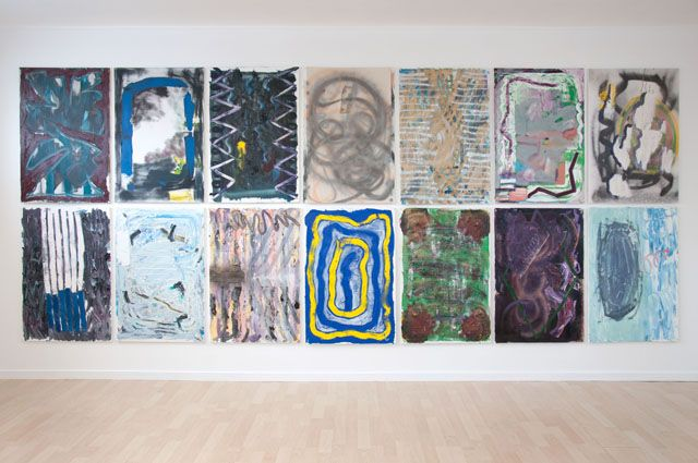 """Stella Corkery, Installation view for show """"Episodic Nomadic' at Gloria Knight, Auckland NZ"""