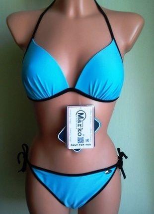 Kup mój przedmiot na #vintedpl http://www.vinted.pl/damska-odziez/stroje-kapielowe-stroje-kapielowe/14622315-stroj-kostium-kapielowy-bikini-dwuczesciowe-niebieski-marko-merry-38-40-nowy