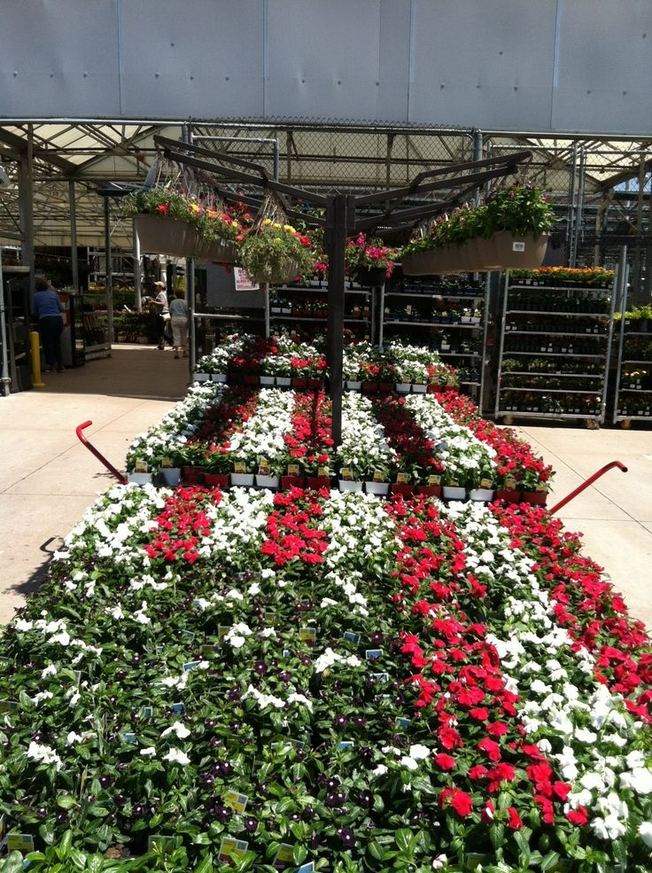 Amazing Red, White U0026 Blue Display At Loweu0027s #Sevillefarms · Merchandising DisplaysGarden  Center ...