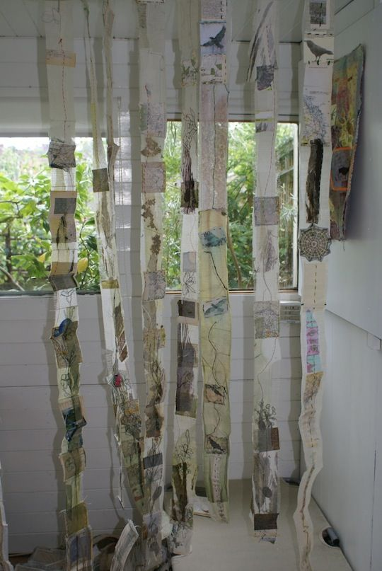 An image demonstrating how to hang textile art