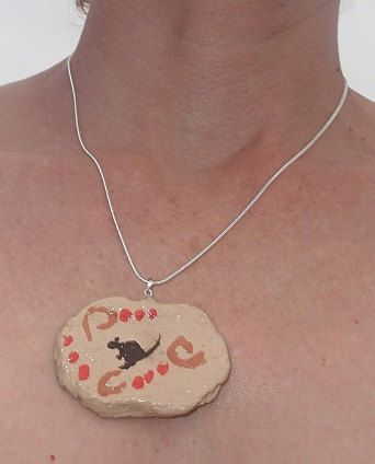 Australian design silver necklance Paper Clay by SortThePost, $40.00