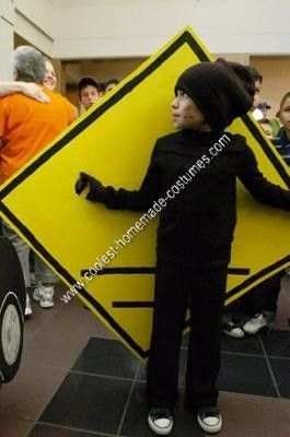 Homemade Pedestrian Crossing Sign Halloween Costume