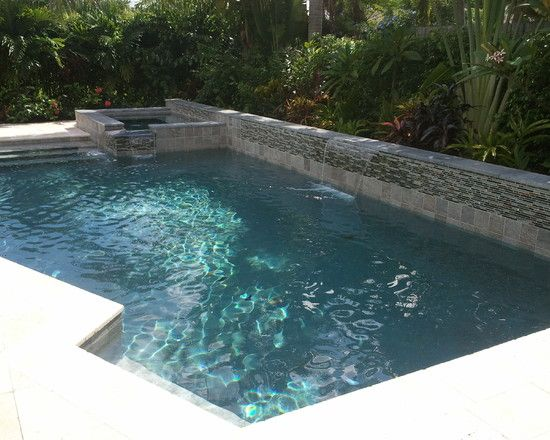 Attractive modern pool designs for small yards with for Simple pool designs for small yards