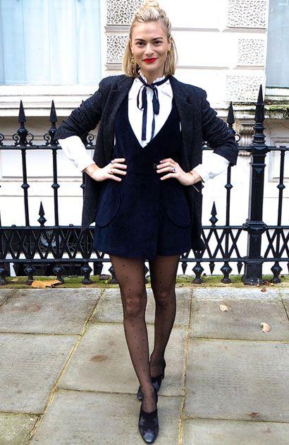 Pandora Sykes de Terninho com Meia-Calça