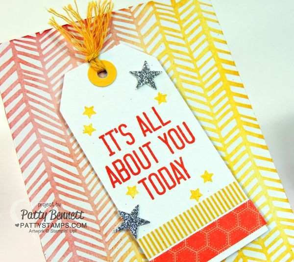 Hooray It's Your Day card kit from Stampin Up! birthday card - gift card holder. by Patty Bennett