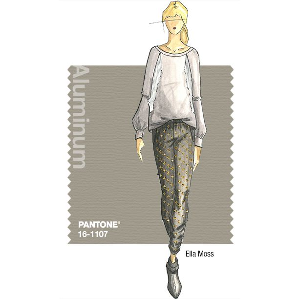 PANTONE Fashion Color Report – Fall 2014 – Aluminum – Ella Moss