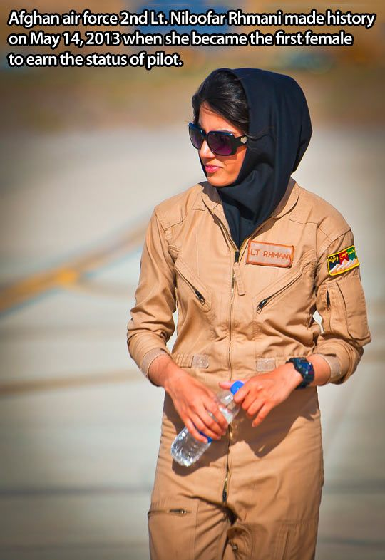 The first Afghan female pilot. Let me repeat, first. Afghan. Female. Pilot. Yeah, its pretty impressive. (And sexism is  dumb.)