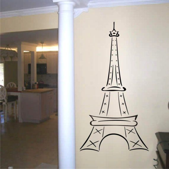 Hey, I found this really awesome Etsy listing at https://www.etsy.com/listing/44970431/wall-decal-eiffel-tower-60-inch-tall