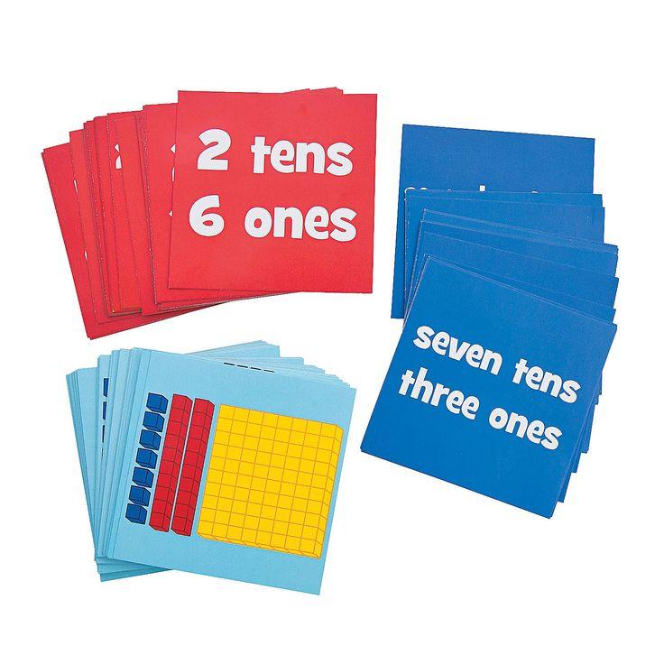Number Value Dice Card Set - OrientalTrading.com
