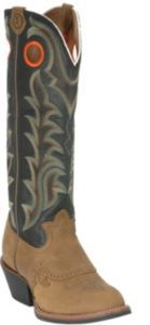 Tony Lama 3R Men's Tan Crazy Horse and Distressed Black Tall Top Buckaroo Boots   Cavender's
