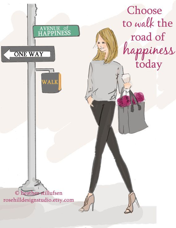 Wall Art for Women Choose The Road of by RoseHillDesignStudio