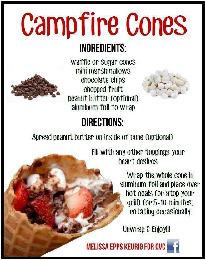 Camp fire cones recipe