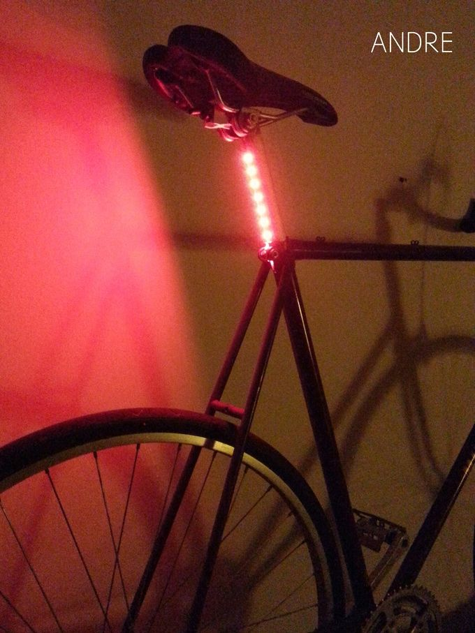 LIGHT-POST: A minimalist seat tube integrated LED bike light by Andre Brown — Kickstarter