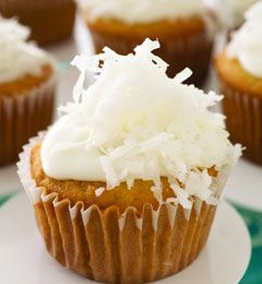 Coco Loco Tequila Cupcakes - these adult-only cupcakes provide enough kick to make you feel like you are on vacation south of the border!