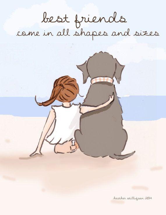 Perro arte mejor a amigos vienen en todas formas y tamaños