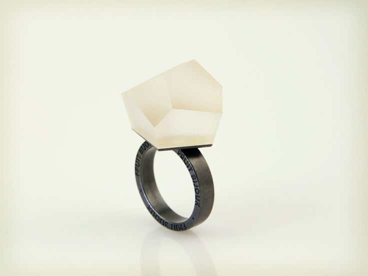 Vu - clear gold, ruthenium ring - =PYO=