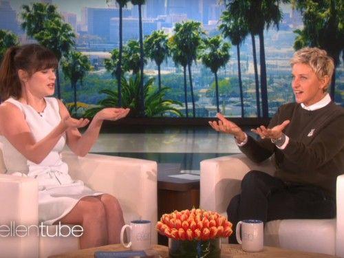 Zooey Deschanel tells Ellen why she named her daughter Elsie Otter