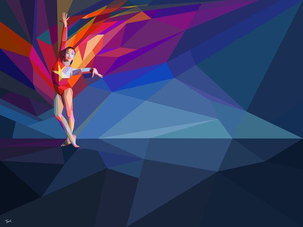 Geometric illustration. Yahoo! London 2012 Games coverage