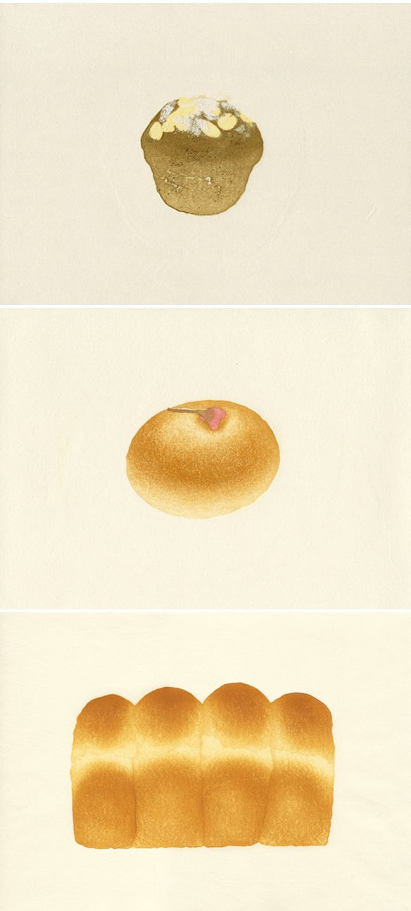 izumi morito & hikosaka yuki ... bread illustrations! <3