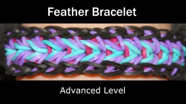 Rainbow Loom Patterns: Feather Rainbow Loom Pattern (youtube tutorial)