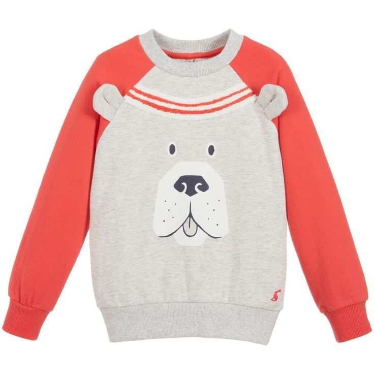 Joules - Grey & Red 'Rogan' Sweatshirt | Childrensalon