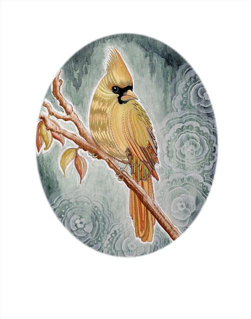 North Country Girl cardinal illustration