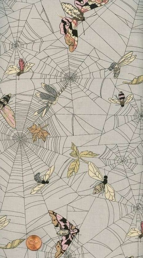 Spider web Cotton - fabric design by Alexander Henry
