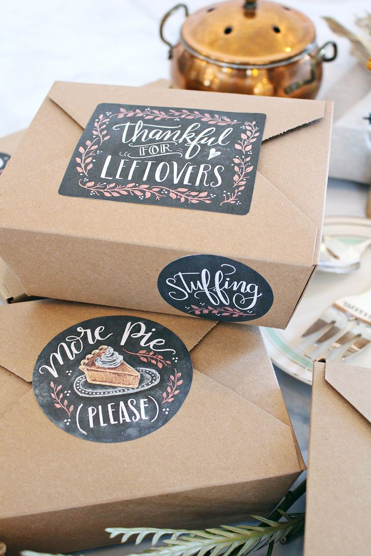 THANKSGIVING LEFTOVER LABELS BY VALERIE MCKEEHAN