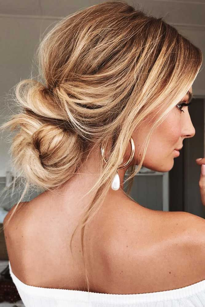 Loose Updo Hairstyle For Prom Hair Styles Chic Hairstyles Messy Hairstyles