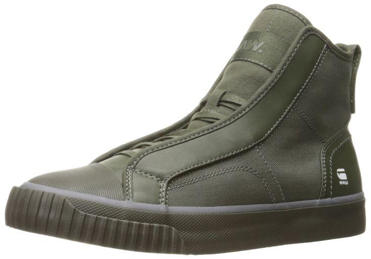 G-Star Raw Men's Scuba Mix Hi Top Fashion Sneaker, Combat, 42 EU/9 M US
