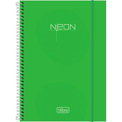Caderno Universitário Tilibra Neon Verde Capa de Polipropileno - 96 Folhas-preço: 19.90