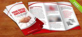 Üç katlı broşür PSD şablonu