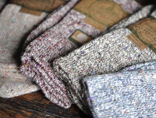 Textured wool socks