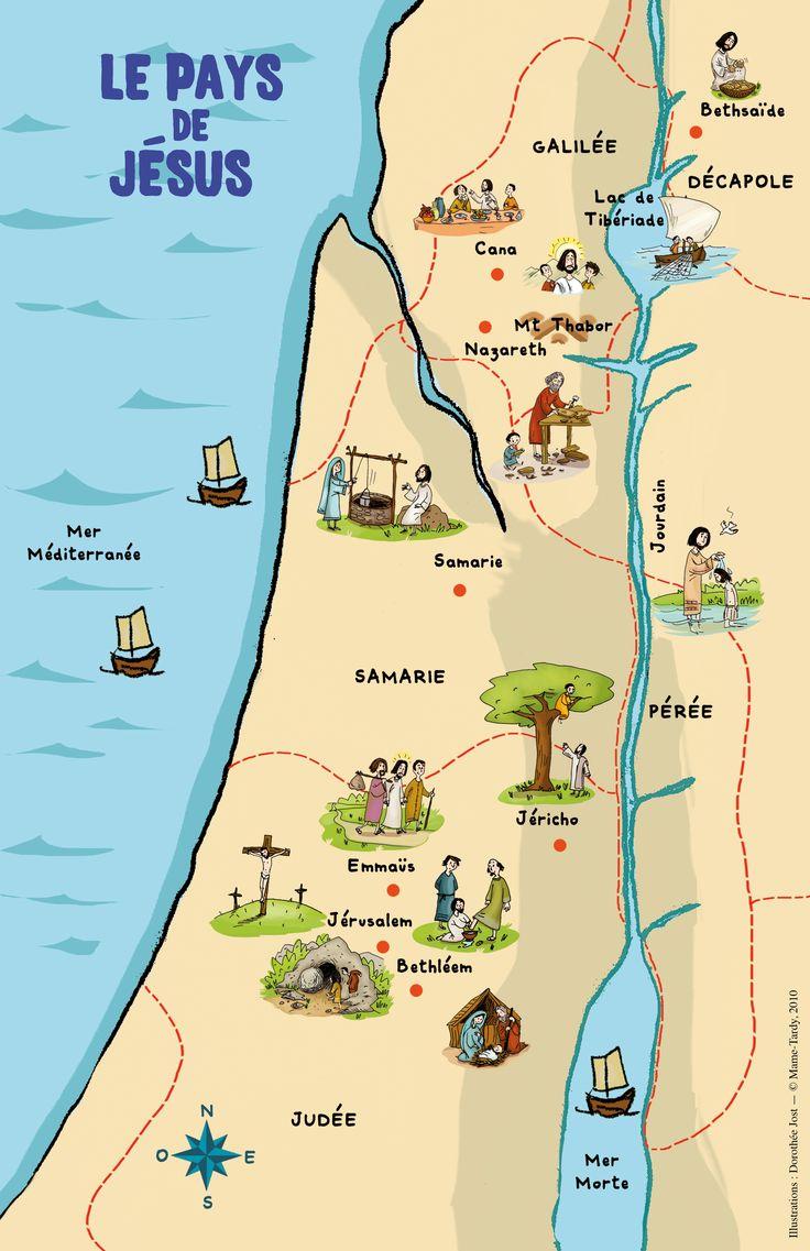 La carte «du pays de Jésus» – À la rencontre du Seigneur