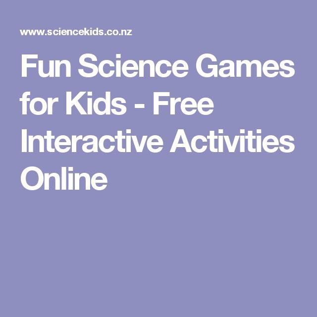 Fun Science Games for Kids - Free Interactive Activities Online