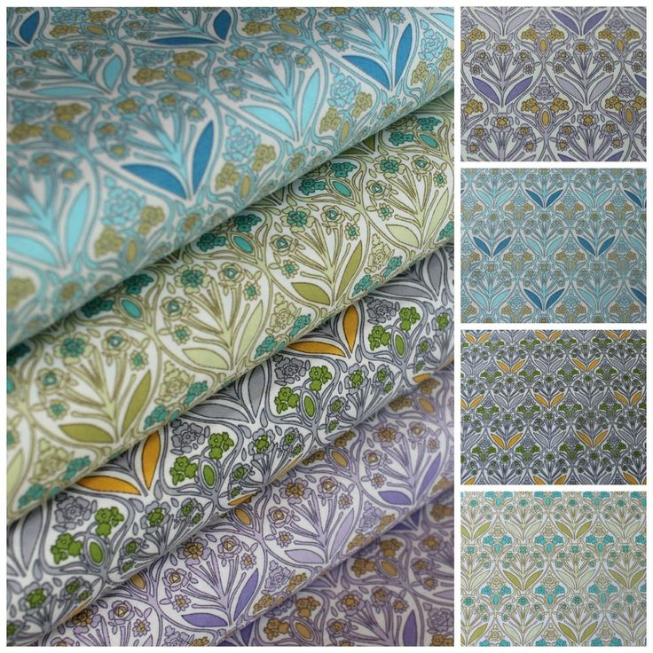 Floral Fabric 100% Cotton Art Nouveau Design Flowers Arts & Crafts 4 Colourways in Crafts, Sewing & Fabric, Fabric | eBay £1.85/meter