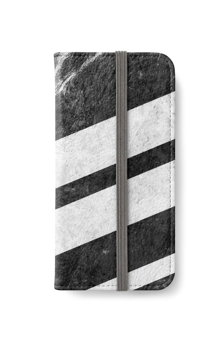 Black Striped Marble by ngdesign81 #marble #stone #texture #pattern #black #white #stripe #striped #iphone #wallet