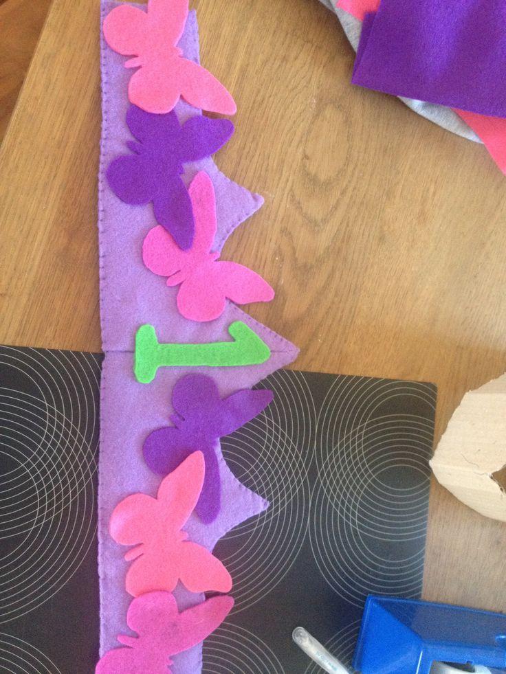 Verjaardagsmuts gemaakt voor de eerste verjaardag van mijn nichtje - van vilt