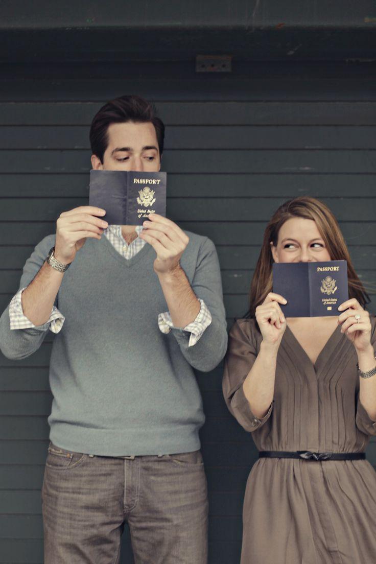 I love the idea of using #passports    a travel theme engagement    Cassandra Eldridge Photography   www.cassandraeldr...
