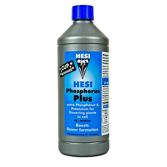 Hesi Phosphorus Plus:  Aimed directly at the soil growing market, Hesi Phosphorus Plus is a PK booster for plants to help increase flower and fruit formation.