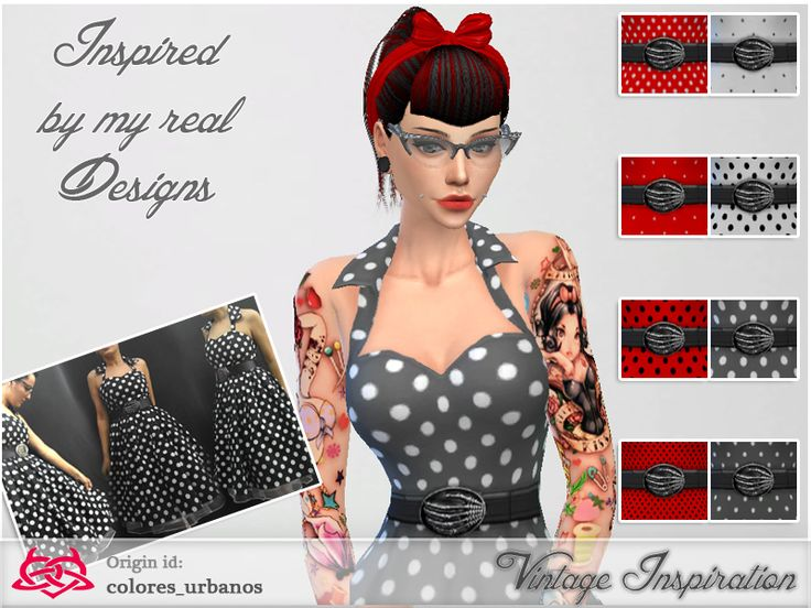 Recolor Rockabilly lunares 1 by Colores Urbanos at TSR via Sims 4 Updates. 64 best sims 4 rockabilly pinup style images on Pinterest   Pinup