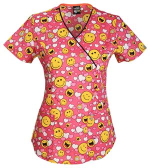 """""""Happy to Love You"""" scrub top 