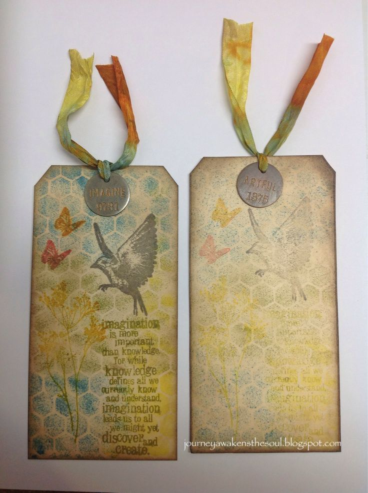 The Journey Awakens the Soul...: Tim Holtz's 12 Tags of 2014 March