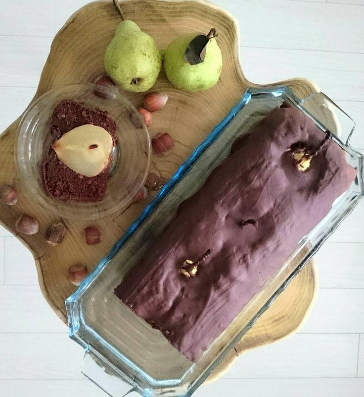 Csokis-mogyorós bújócskázó körték!  Chocolate, hazelnuts, pear, cake!